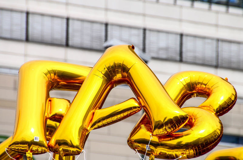 Balloon letters spelling the word fab