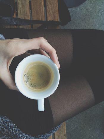 Legs Kneesocks Coffee Mountains Hand Dress Waiting Sitting Enjoying Life Happiness