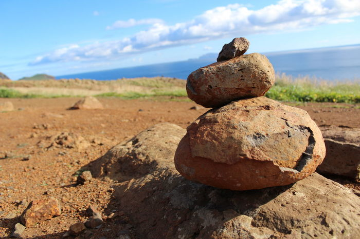 rock piles. Beach Beauty In Nature Close Up Day Depth Of Field Landscape Nature No People Outdoors Rock - Object Rock Pile Sky