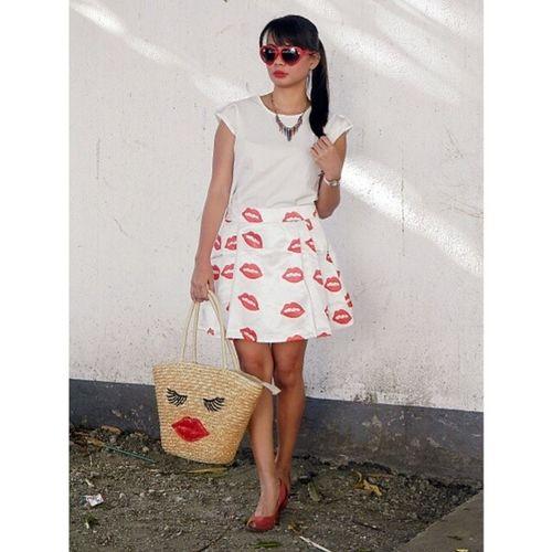 Ootd Lips Banggood Sponsor blogger fashion style
