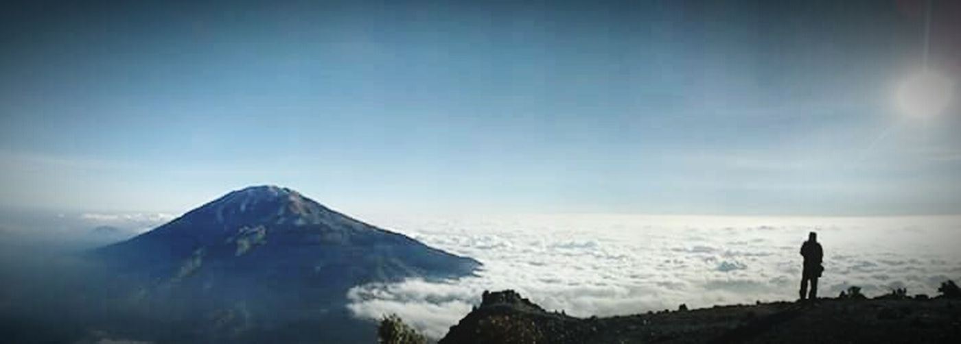 Merbabu Mountain Clouds And Sky Trekking Merapi Volcano INDONESIA That's Me! Landscape Nature Get Lost Blue Sky Hanging Out Hello World Yogyakarta, Indonesia Enjoying Life Taking Photos Relaxing