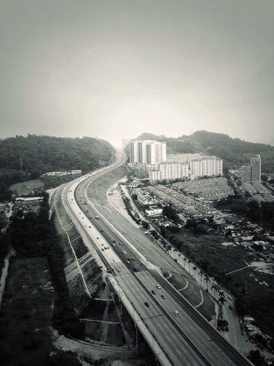 Mont'kiara Kuala Lumpur Aerial Photography Blackandwhite