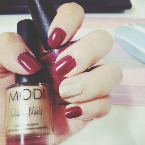 Nail #nailpolish #nailart #mine #orange #pink #pinklicious #candybar #holiday Burgundy