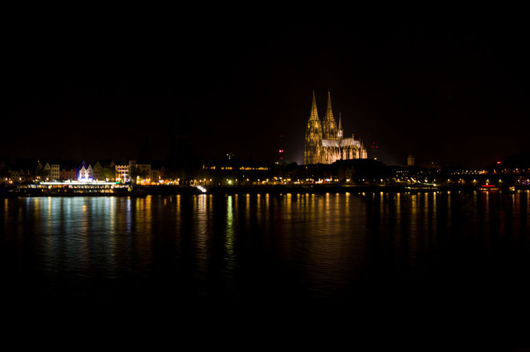 Cologne by river Rhine after midnight Köln Night Photography Rhein River Rhine Architecture Building Building Exterior Built Structure City Dom Cathedral Illuminated Nature Night No People Reflection Religion River River Rhine By Night Sky Travel Travel Destinations Water Waterfront The Traveler - 2018 EyeEm Awards The Great Outdoors - 2018 EyeEm Awards The Architect - 2018 EyeEm Awards
