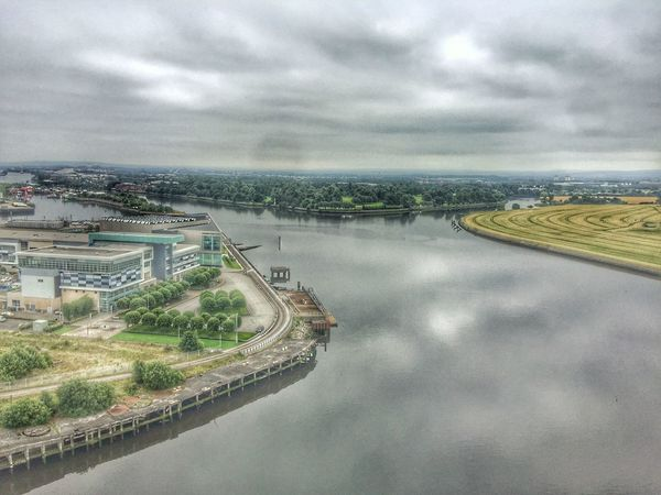 Sky Cloud - Sky Road Water Architecture Transportation No People Built Structure High Angle View Day Cityscape City Nature Outdoors Building Exterior Sea Landscape Scenics Beauty In Nature Scotland Eyeem Scotland  Clydebank Titan Titancrane RiverClyde