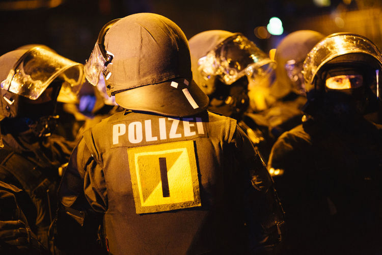G20 Gipfel G20 Summit Hamburg Polizei Aggression  Army Helmet Clothing Government Group Of People Headwear Helmet Helmets Night People Police Police At Work Police Force Police Uniform Protection Real People Safety Security Uniform
