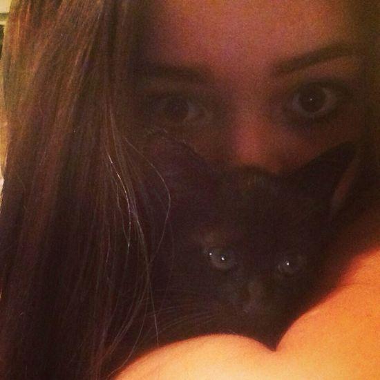 Love <3 Cat Black Hello World