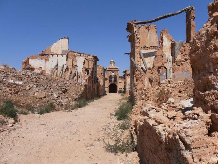 Civil War Abandoned Architecture Belchite Viejo Built Structure History Old Ruin The Past Travel Destinations