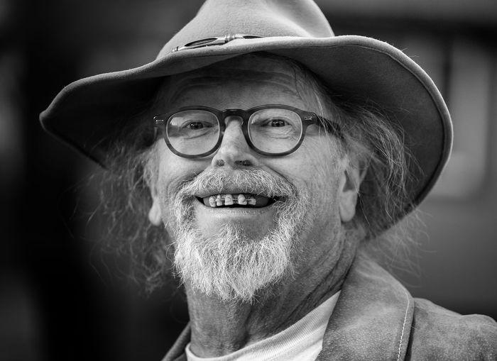 Portrait Headshot One Person Beard Hat Facial Hair Adult Looking At Camera Eyeglasses  Smiling Glasses Males  Real People Men Senior Adult Lifestyles Front View Human Face Mature Men