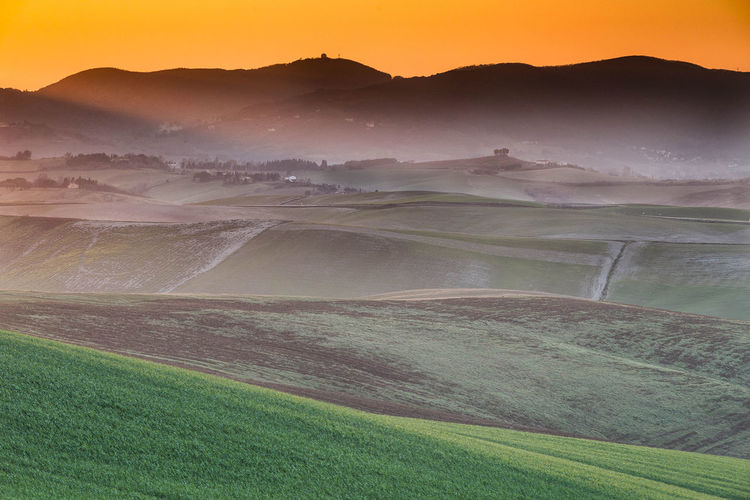 Tuscany Countryside Sunset Italian Landscape Landscape Photography Pisa Sunset Photography Tuscany Tuscany Countryside Beauty In Nature Field Grass Landscape Nature Tranquil Scene