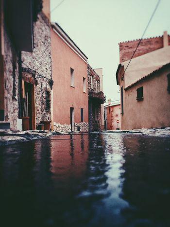 Urban Landscape Sardinia Posada Street Point Of View