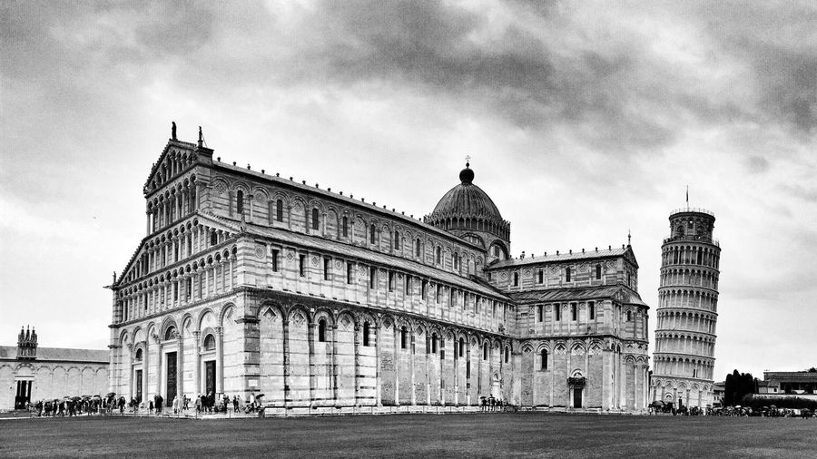 The leaning tower and the cathedral