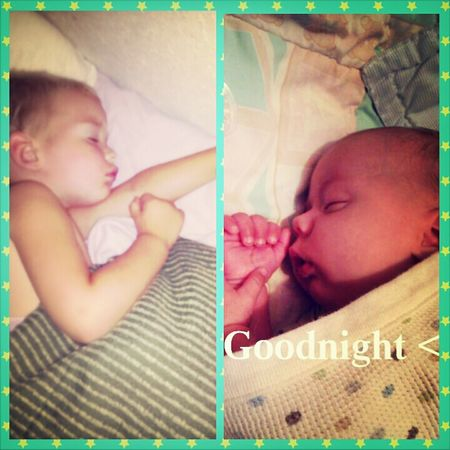 Sleeping Kids Goodnight Love Them ❤ Taking Photos
