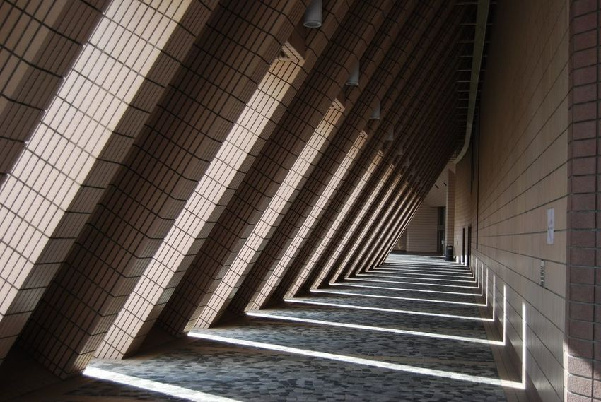 Architecture Built Structure Day Hong Kong Culture Centre Modern No People Pattern Steps