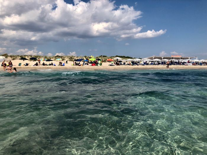 Torre S Giovanni Italy🇮🇹 Italy Torre San Giovanni Water Sky Cloud - Sky Sea Waterfront Nature Day Beach