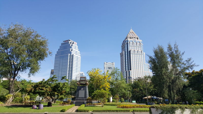 สวนลุม สวนลุมพินี Lumpini Park Garden Public Park Enjoying Life Exercise Time Thailand Cityscape