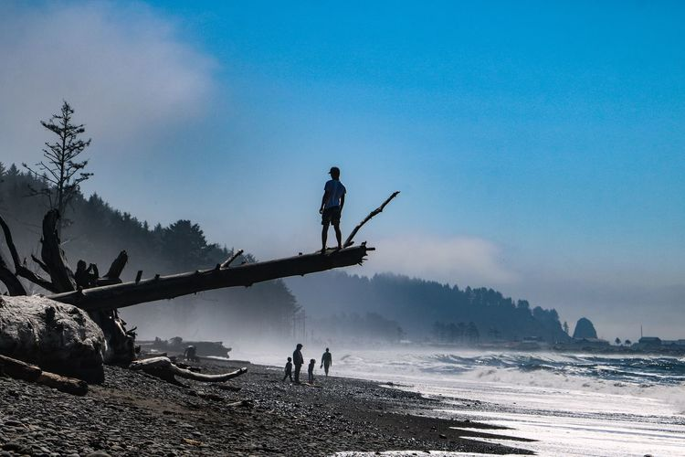 Rialto Beach Olympic National Park Sky Water Sea Scenics - Nature Lifestyles Beauty In Nature Leisure Activity Real People Nature People Land Group Of People Silhouette Outdoors Vacations Beach