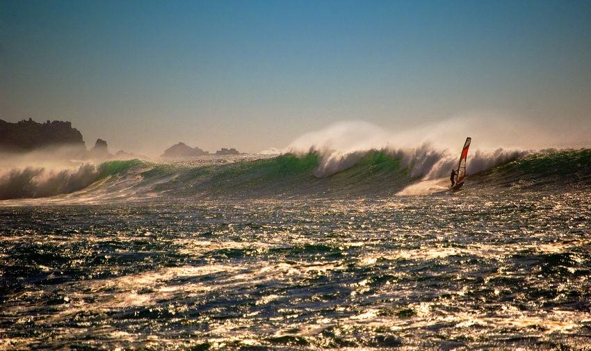 Windsurfer on