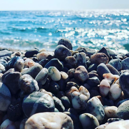 ...sassolini Water Sea Rock Beach Solid Beauty In Nature Nature No People Tranquil Scene Scenics - Nature Horizon Over Water Outdoors Wave Stone Stone - Object Day Tranquility