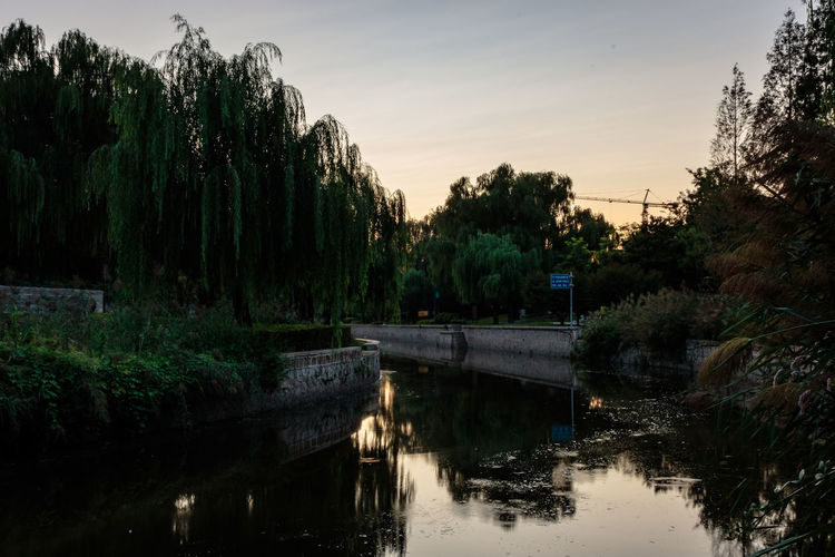 City Dynasty Reflection Sunlight Tree Wall YUAN Beauty In Nature Bridge - Man Made Structure Canal Capital Day Dusk Growth Moat Nature No People Outdoors Park River Scenics Sky Sunset Tree Water