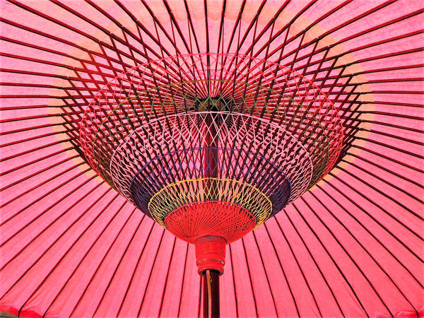 Close-up Day Low Angle View No People Oiled-paper Umbrella Outdoors Paper Umbrella Pattern Red Unbrella