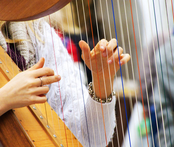 An harp player in Modena Human Hand Hand Human Body Part One Person Arts Culture And Entertainment String Instrument Musical Instrument Playing Music Real People Holding Musical Equipment Women Finger Musician Artist Adult Harp Harp Player