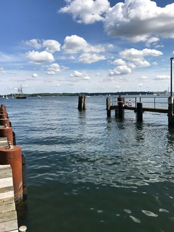 Kiel Holtenau Water Sky Cloud - Sky Day Sea Outdoors Nature Scenics Beauty In Nature Built Structure Beach No People Architecture Horizon Over Water