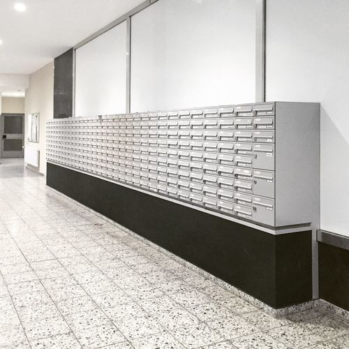 Mailboxes in building