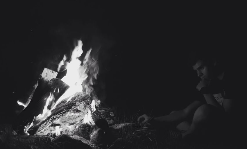 -The Adirondacks, NY- Campfire EyeEm Best Shots Nightphotography Silhouette Blackandwhite Night EyeEm Best Edits Outdoors Night Life