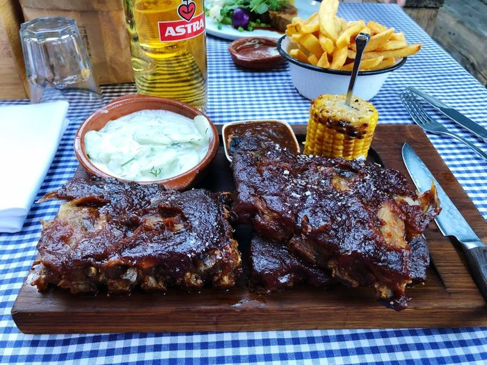 Spareribs Spare Ribs Barbecue Fresh Food Food And Drink Food Freshness Table High Angle View Ready-to-eat Indoors  Wellbeing Plate Serving Size