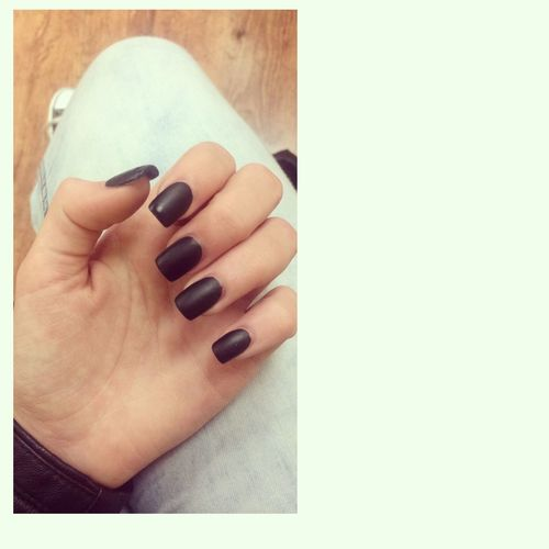 Matte of course?. Matteblack Nails Acrylic Black