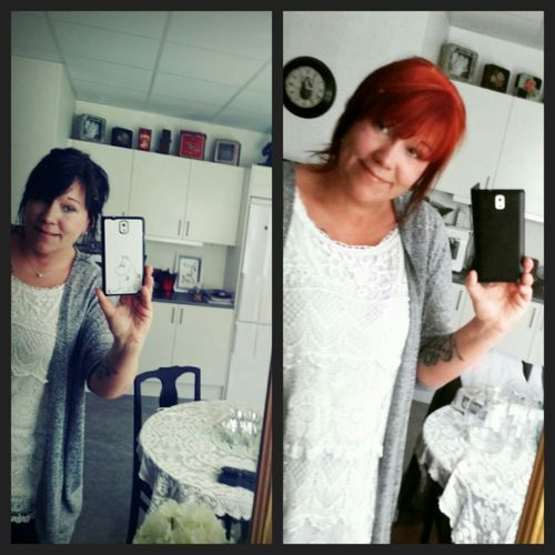 Red or black ?? Question Youngatheart 👍💕 40years New Haircolour Fun Today Woman