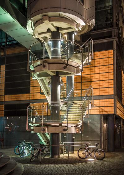 View of machine at night