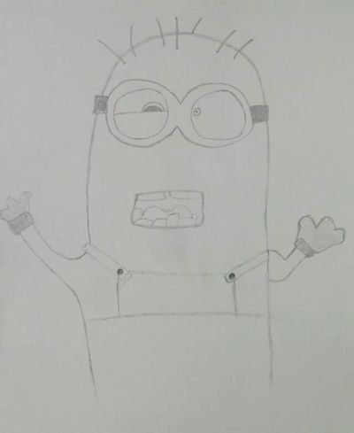 Hi! Drawing My Drawing Art, Drawing, Creativity Drawinglove Minion Love Minions