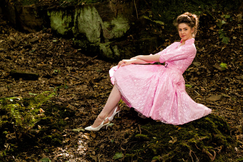 Fashion shoot for dressmaker also the model in the photo speed lighting beauty dish Dress One Person Outdoors Traditional Clothing Full Length Pink Color Portrait Beauty First Eyeem Photo