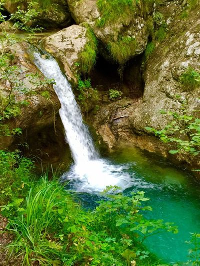 Waterfall Water River Scenics Rock - Object Moss Green Color Outdoors No People Tranquil Scene Landscape Motion Forest Vacations Tranquility Travel Destinations Plant Beauty