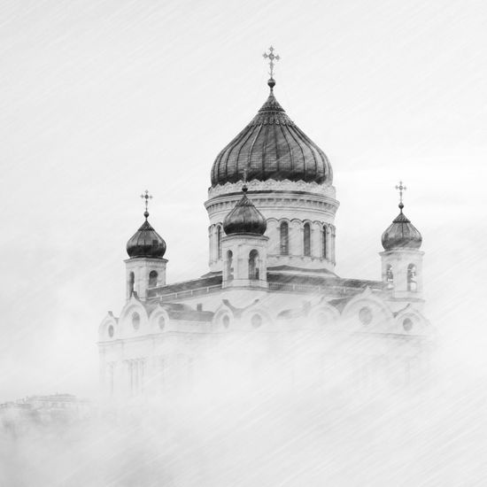 Cathedral Of Christ The Saviour Moscow Russia Building Exterior Architecture Built Structure Building Sky Religion Belief Travel Destinations Place Of Worship History Travel Day No People