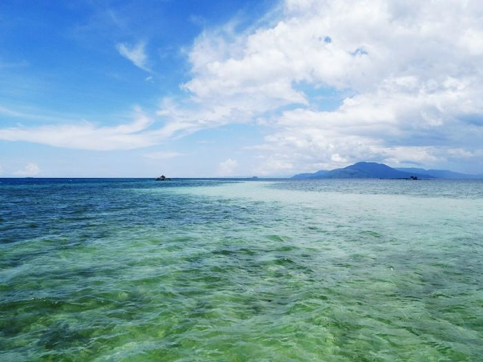 Tanjung Tiram Beach... Beachphotography Blue Sky Beach Water Reflections Coral Clean Water