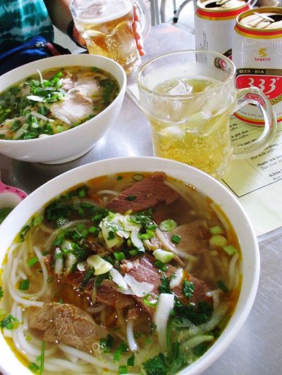 Local food at Vietnam Bun Bo Hue ASIA Trip Ho Chi Minh City Vietnam 3⃣3⃣3⃣ Local Food Beer Food And Drink Bowl Ready-to-eat Freshness Serving Size Soup Food No People
