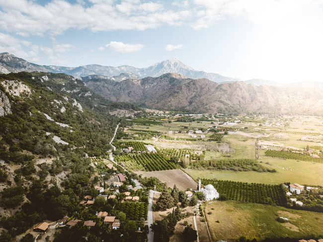 Olympos, Kumluca, Turkey Agriculture DJI X Eyeem Drone  Mediterranean  Turkey Turkish Riviera Aerial Photography Aerial View Beauty In Nature Day Dronephotography Fields Flying Landscape Lycianway Mountains Nature Olympos Outdoors Scenics - Nature çıralı