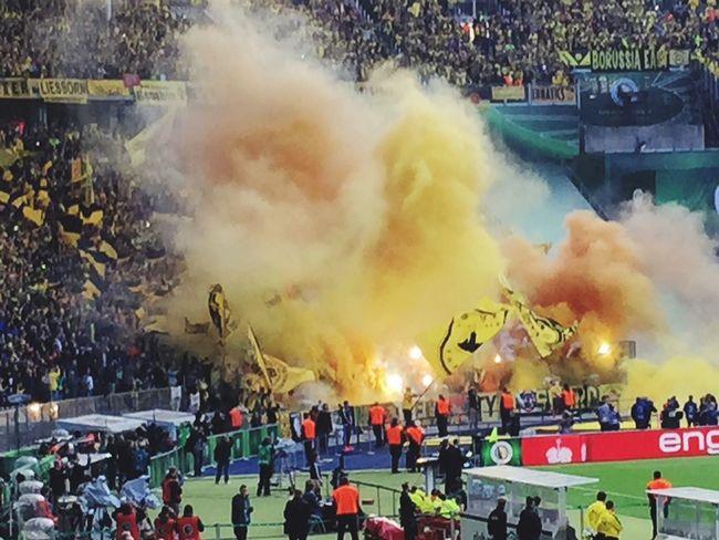 DFB-Pokalfinale BvB Pyro