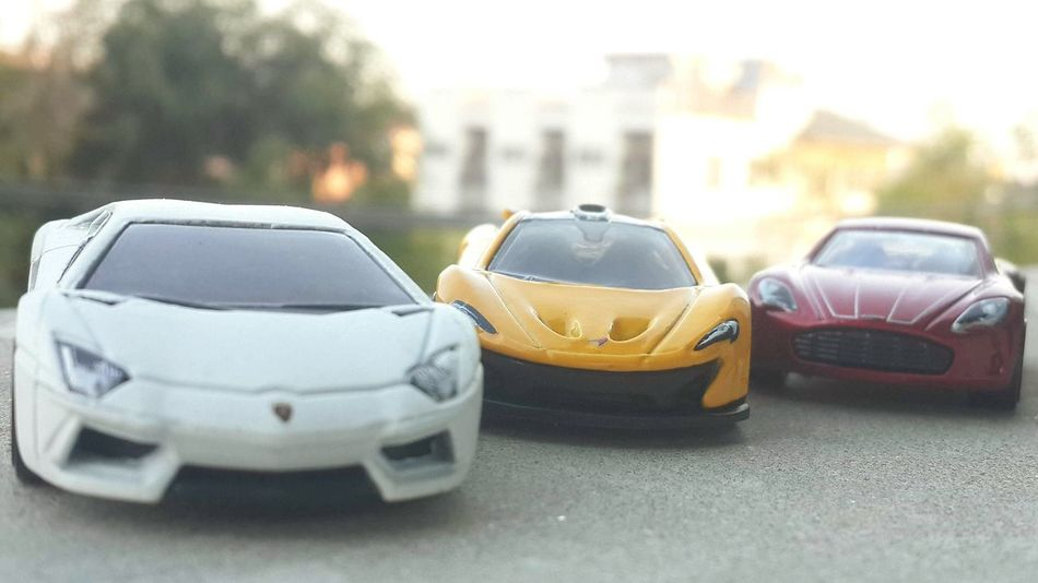 The Hotwheels Day HotWheels McLaren Aston Martin Lamborghini Aventador One-77 P1 Toy Toys Thailand Car No People City Outdoors Close-up