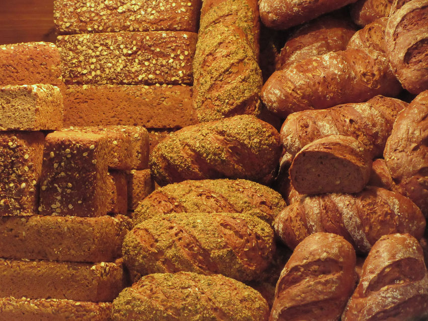 Many mixed breads and rolls background Artisanal Bread Background Bake Bakery Barley Bread Bun Dough Flour Food Gluten Grain Loaf Lot Many Mixed Roll Rustic RYE Seed Shapes Snack Sunflower Seeds Variety Wheat