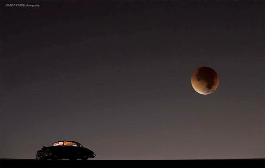 One of the most beautiful photo for Bloody Moon Eclipse Yestarday taken in west Libya Taking Photos Nice View Check This Out EyeEm Nature Lover >>> Followme