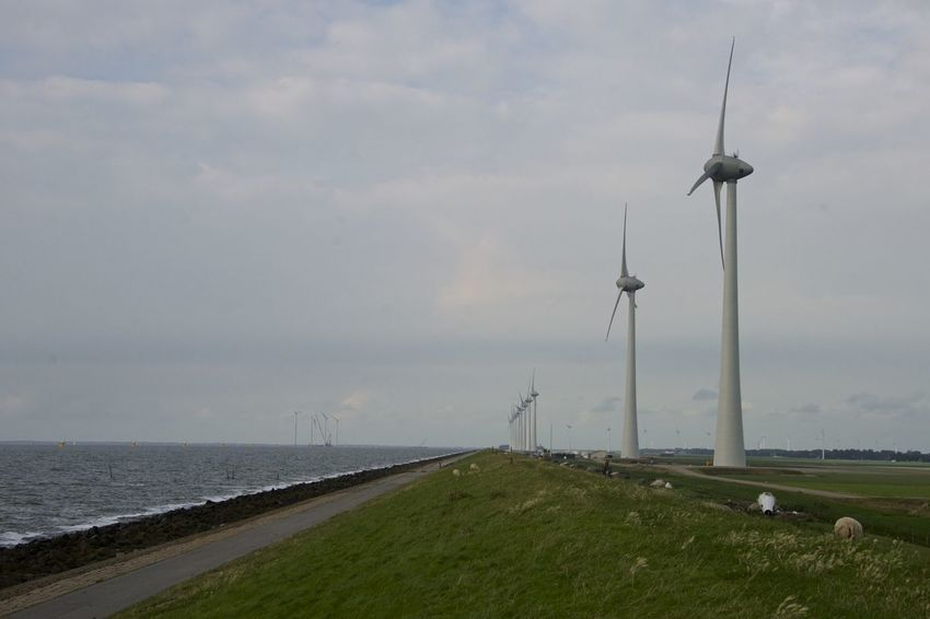 Dutch cycle route 'Oud en Nait Urk' in Flevoland. Netherlands Oud En Nait Urk The Netherlands Alternative Energy Dutch Environmental Conservation Flevoland Holland Industrial Windmill Outdoors Urk Wind Power Wind Turbine Windmill