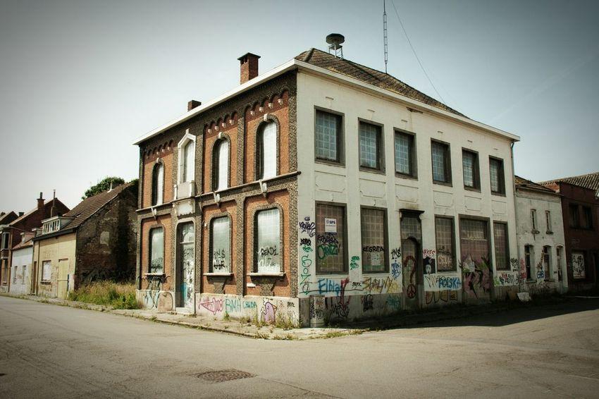 Building Exterior Empty Street Empty Road Town No People Abandoned Buildings School Doel Belgium