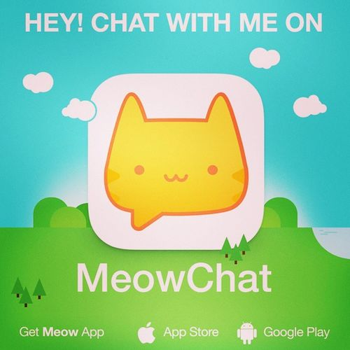 Let's chat on Meow: gagagoez. Get the App here: @MeowApp or http://meowch.at/app Meowchat
