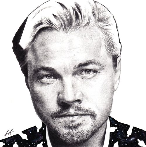 Illustration Art Arts Draw Drawing Drawings Men Leonardodicaprio  Oscar Portrait Space