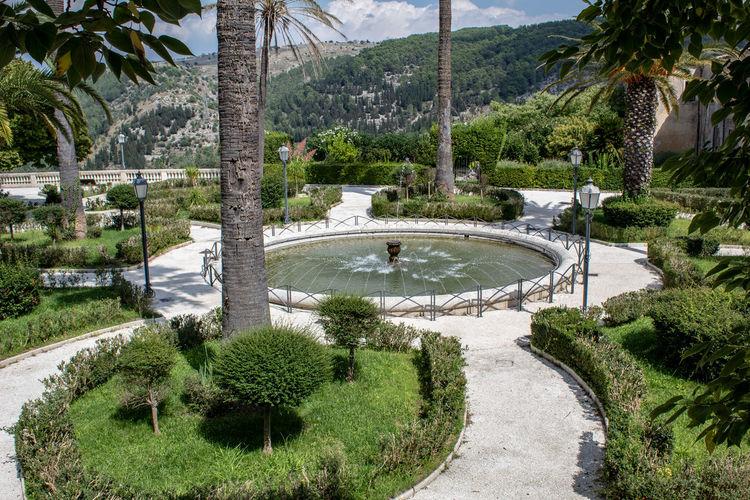 The fountain of the hyblaean garden in ragusa ibla