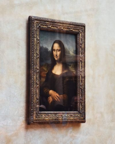 France Louvre Painting Davinci Gioconda Mona Lisa Picture Frame One Person Frame Women Portrait Antique Mirror Art And Craft
